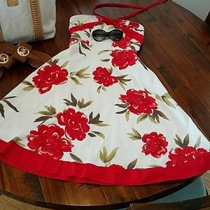 Gorgeous Red Floral Sundress by Trixxi